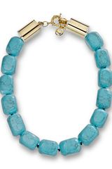 Michael Kors Michael Large Bead Turquoise Necklace - Lyst