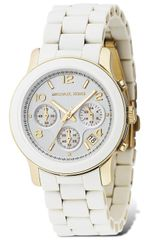 Michael Kors Michael Round White Chronograph Watch 38 Mm - Lyst