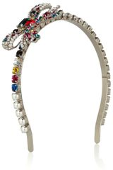 Miu Miu Crystal Bow Headband - Lyst