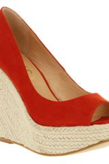 Office Walk All Over Wedge Red Suede - Lyst