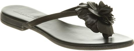 Office Saffron Sandal Black Leather in Brown (saffron) - Lyst