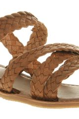 Office Compress Plait Sandal Tan Leather - Lyst