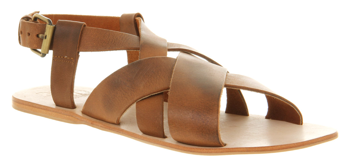 Lyst Office Ridley Sandal Tan Leather In Brown For Men