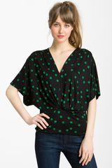 Pleione Dolman Sleeve Print Top with Banded Hem - Lyst