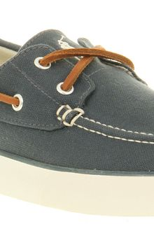 Ralph Lauren Sander Canvas Boat Shoe Blue - Lyst