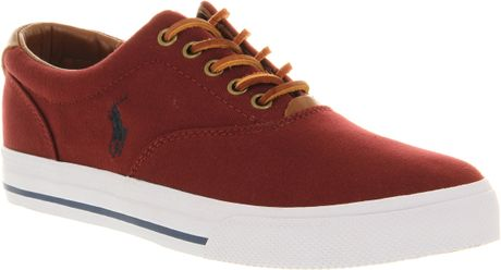 Ralph Lauren Vaughn Maroontan Smu in Red for Men (maroon) - Lyst