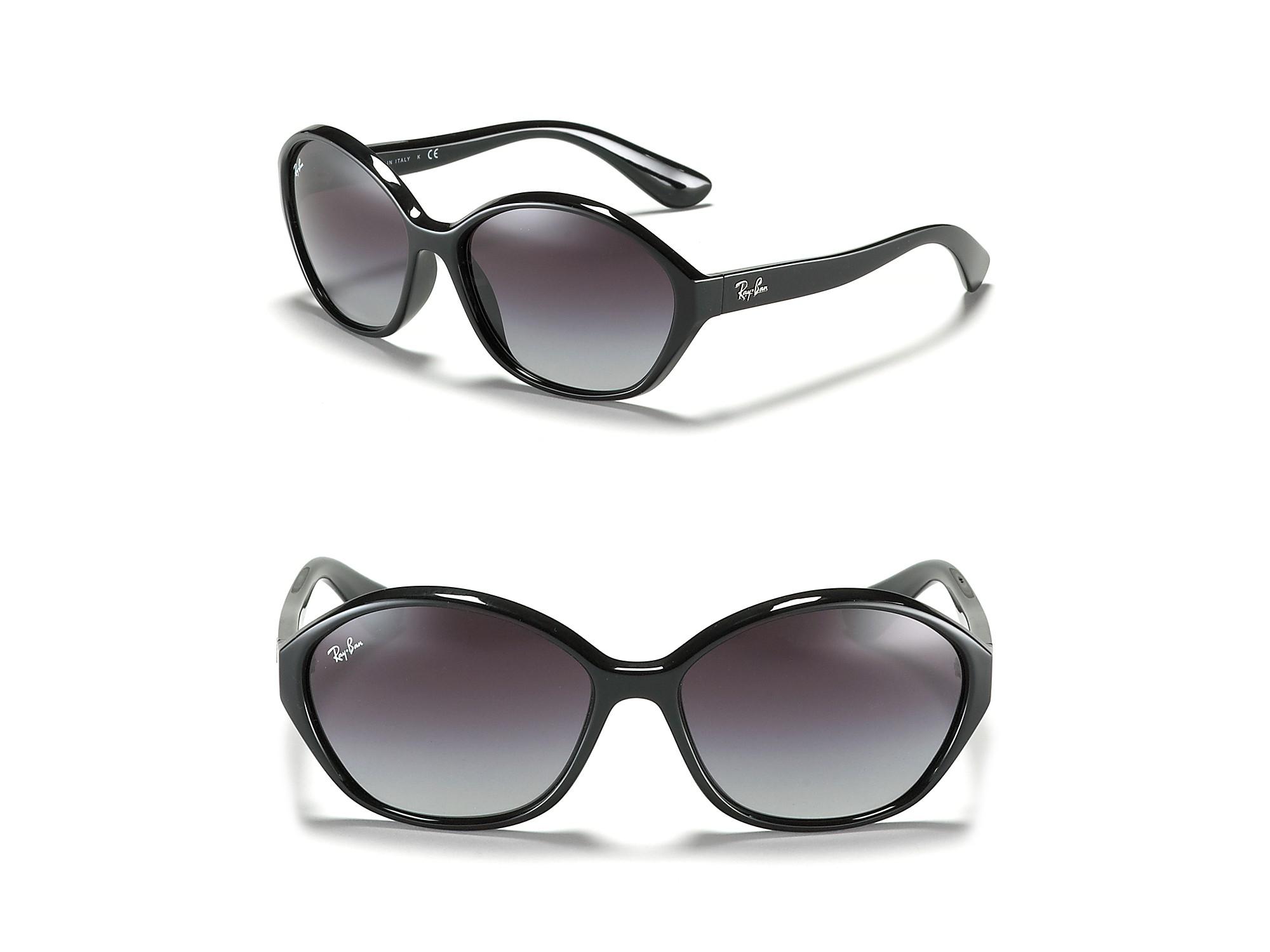 ray ban highstreet cat eye sunglasses in black lyst. Black Bedroom Furniture Sets. Home Design Ideas