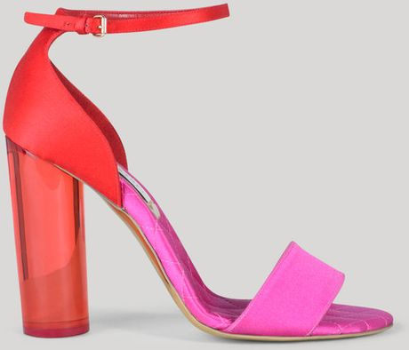 Stella Mccartney Lomax Satin High Heel Sandal 105mm in Pink (bubblegum/folly) - Lyst