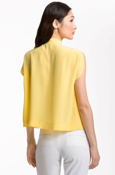 Yellow Tie Neck Blouse 6