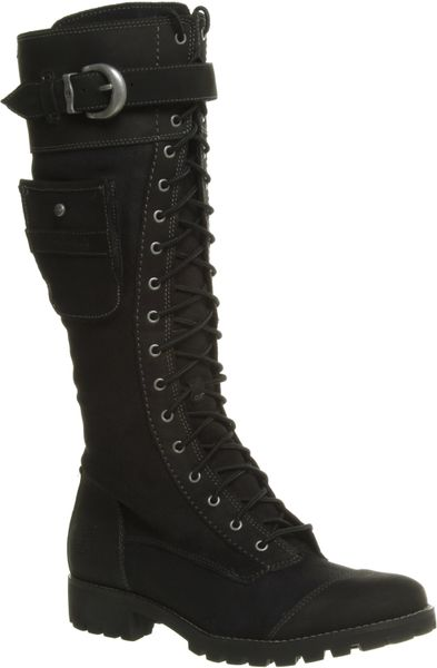 Timberland Atrus Tall Zip Boot Black Leather In Black Lyst