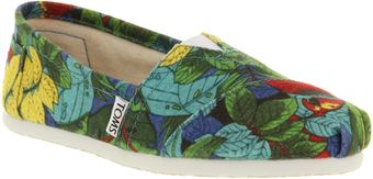 Toms Seasonal Classic Slip On Parrots Smu - Lyst