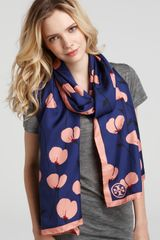 Tory Burch Poppies Oblong Silk Scarf - Lyst