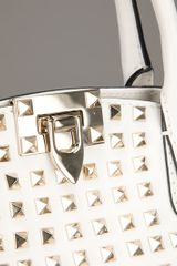 Valentino Studded Tote Bag in White - Lyst