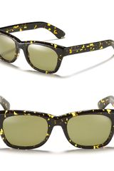 Yves Saint Laurent Square Wayfarer Sunglasses - Lyst