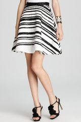 Alice + Olivia Skirt Delaney Beaded Flare - Lyst