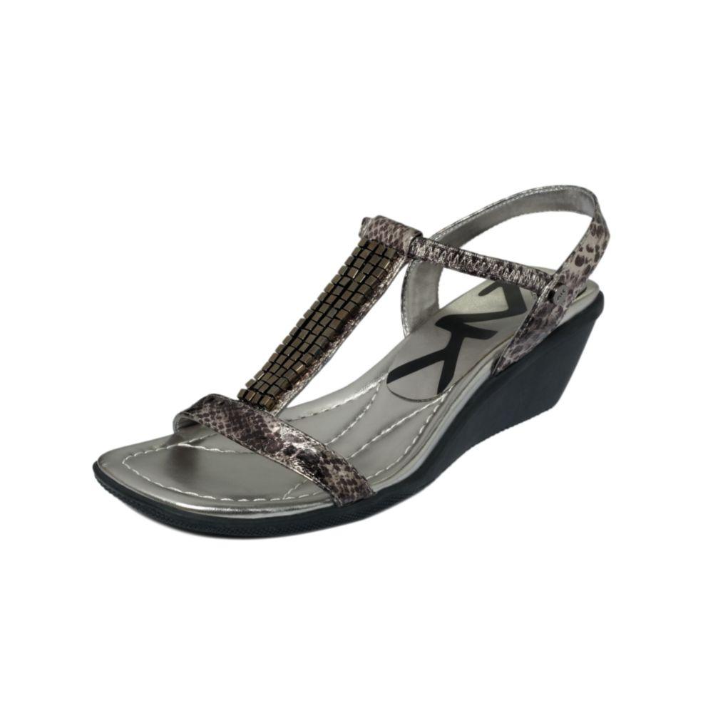 klein missie sport wedge sandals in gray pewter lyst