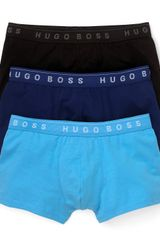 Ash Boss Black Stretch Fashion Trunks 3 Pack - Lyst