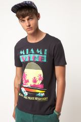 Asos Asos T-shirt With Miami Vice Print - Lyst