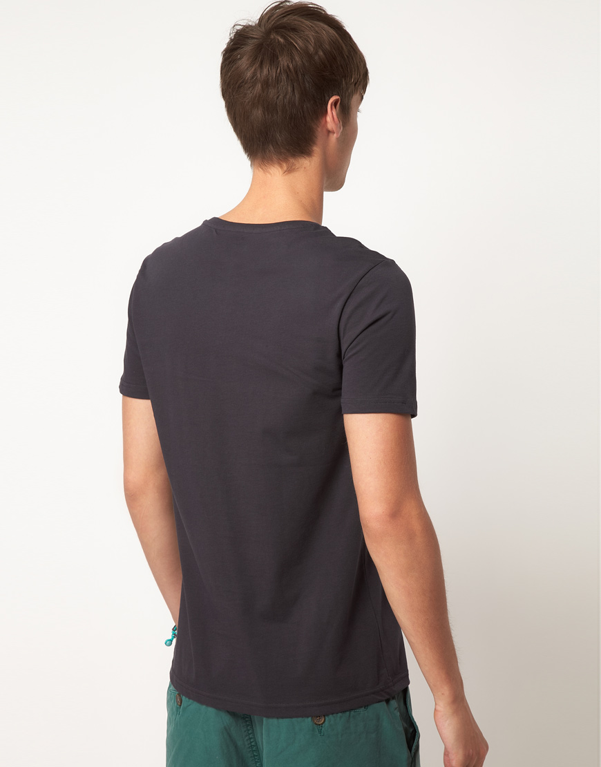 Asos asos t shirt with miami vice print in black for men for Miami t shirt printing