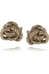 Aurelie Bidermann Arizona 18karat Goldplated Knot Earrings - Lyst