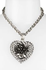 Betsey Johnson Black Label Heart Pendant Necklace - Lyst