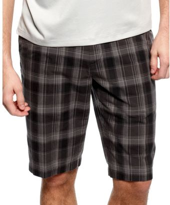 Calvin Klein Plaid Shorts - Lyst