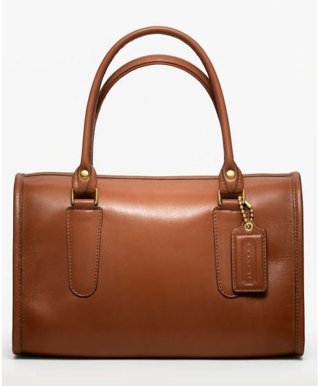 Coach Classic Leather Madison Satchel in Brown (british tan) - Lyst