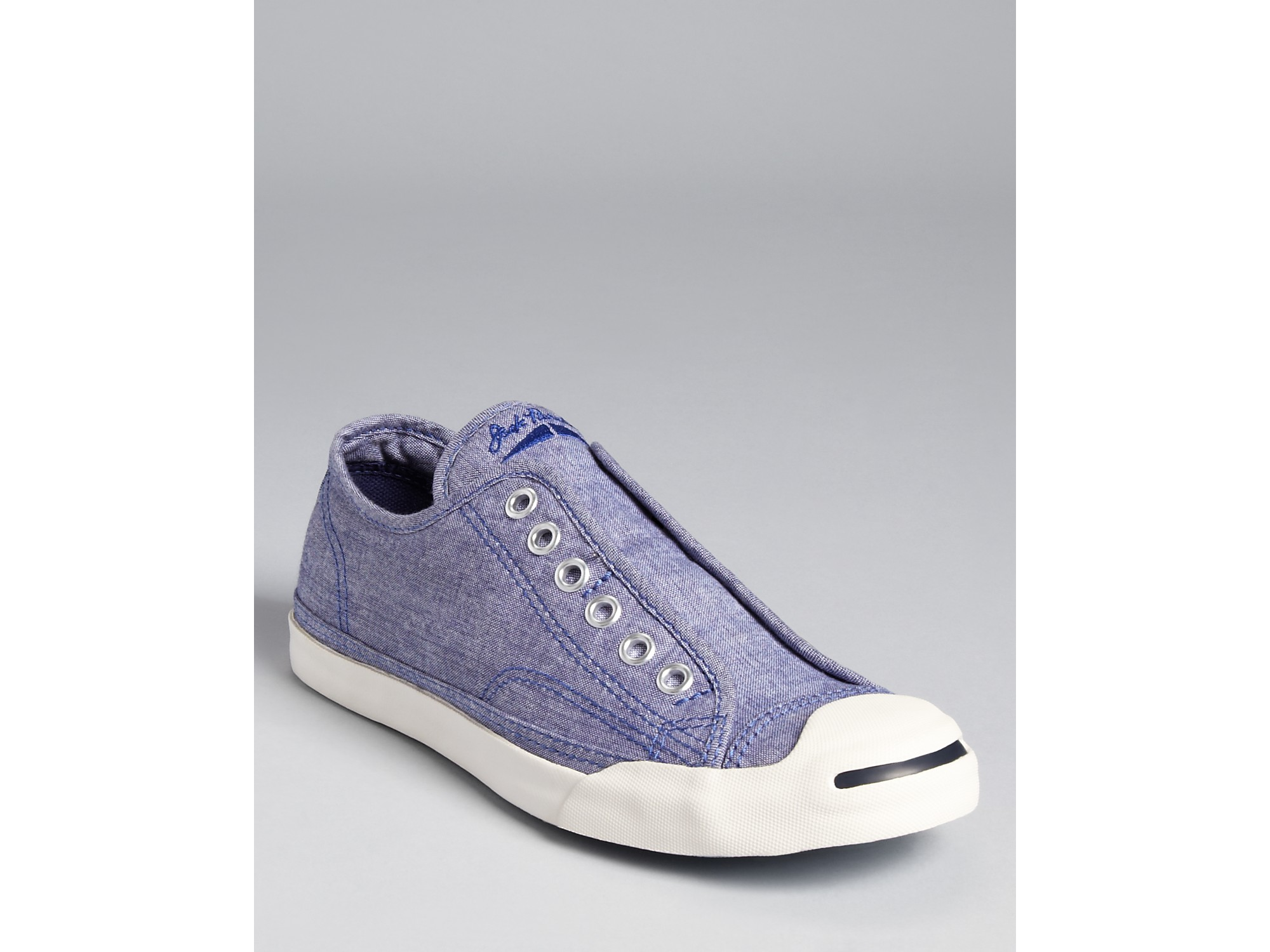 90bc1dad31c Lyst - Converse Jack Purcell Sneakers Slip On Chambray in White