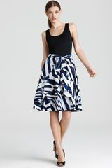 DKNY System Dress with Printed Skirt - Lyst