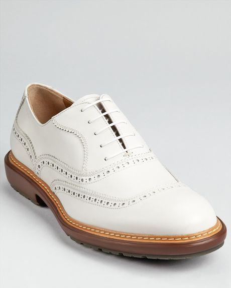Ferragamo Borg Laceup Shoe in White for Men (bianco white) - Lyst