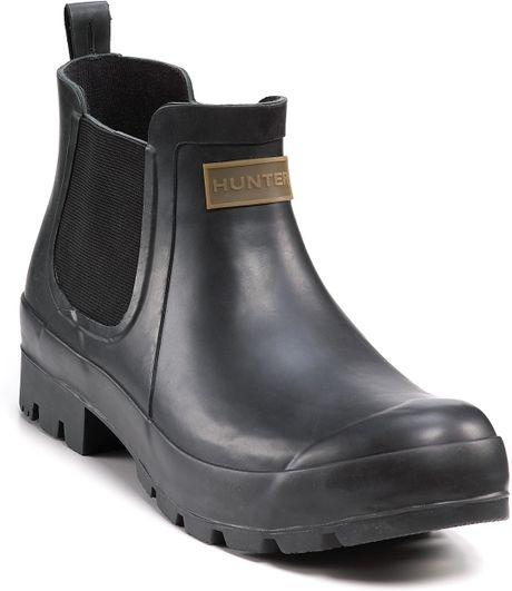 Hunter Hunter Andrew Short Ankle Boots In Black For Men Lyst