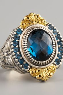 Konstantino Pave London Blue Topaz Ring - Lyst
