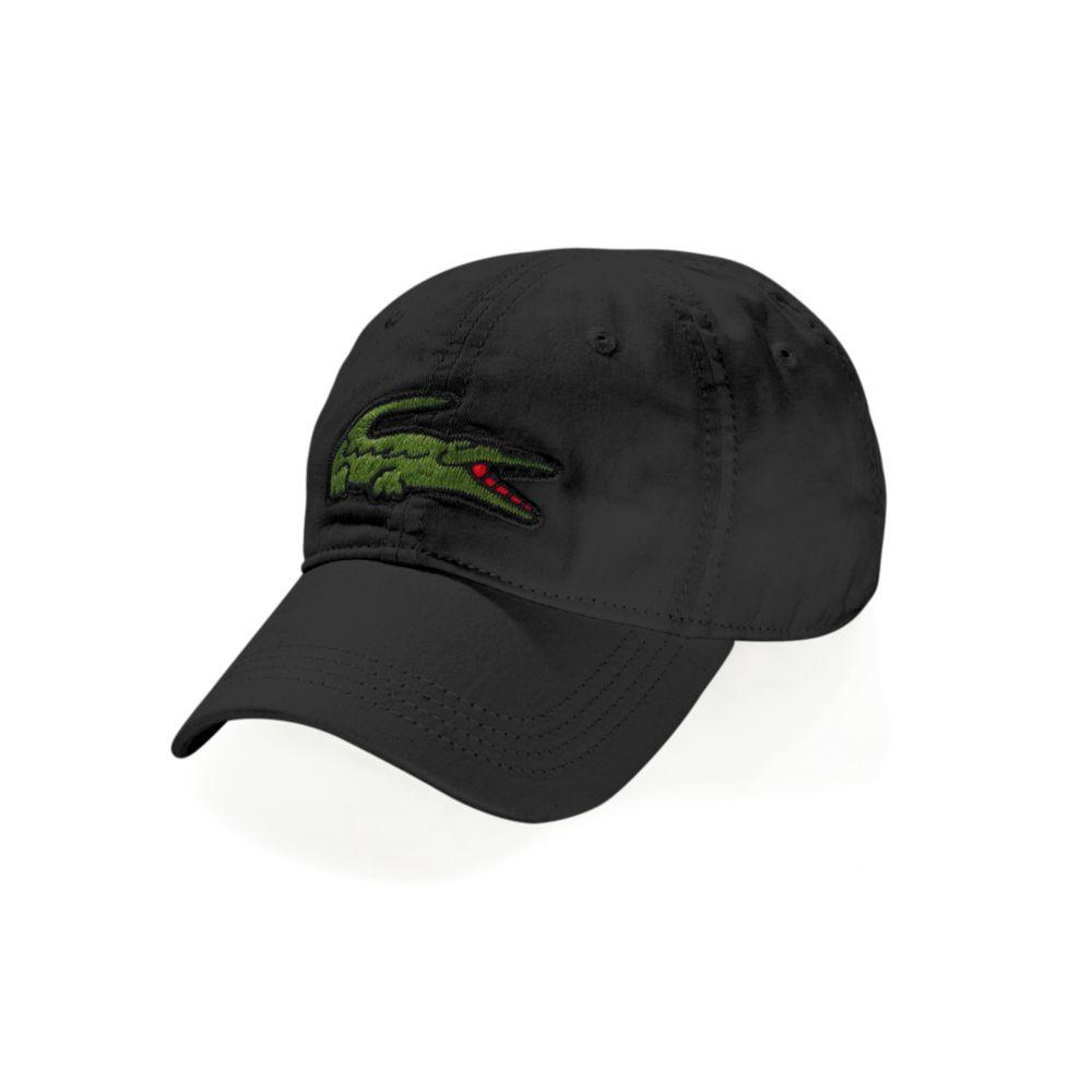Lyst Lacoste Oversized Croc Hat In Black For Men