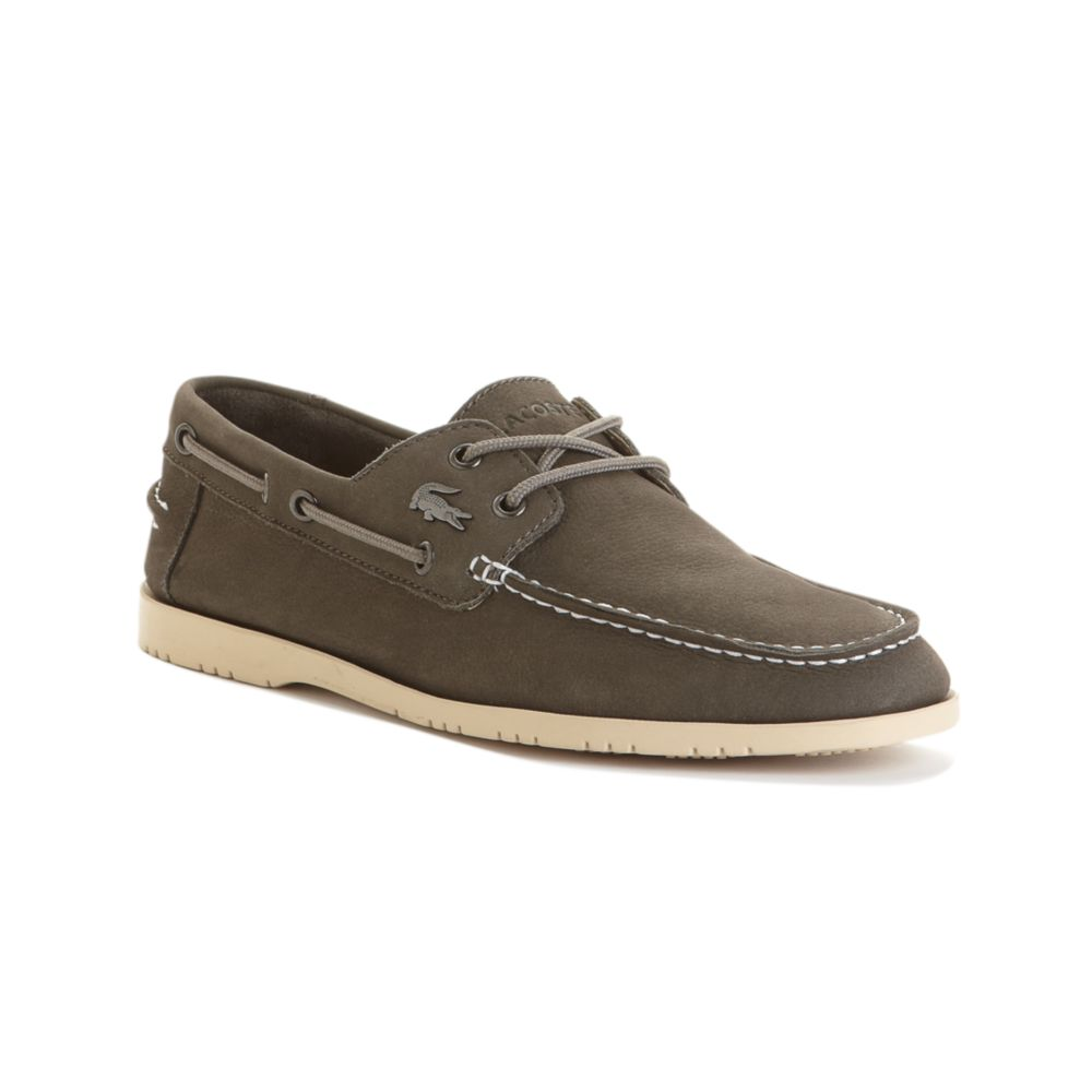 73cebb4053d950 Lyst - Lacoste Corbon Boat Shoes in Gray for Men