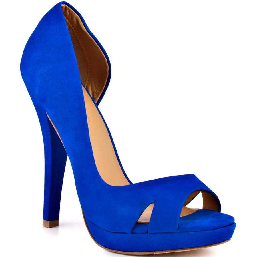 Blue Strappy Wedding Shoes