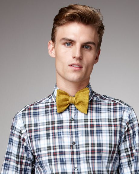 Lanvin Textured Bow Tie in Yellow for Men (mustard) - Lyst