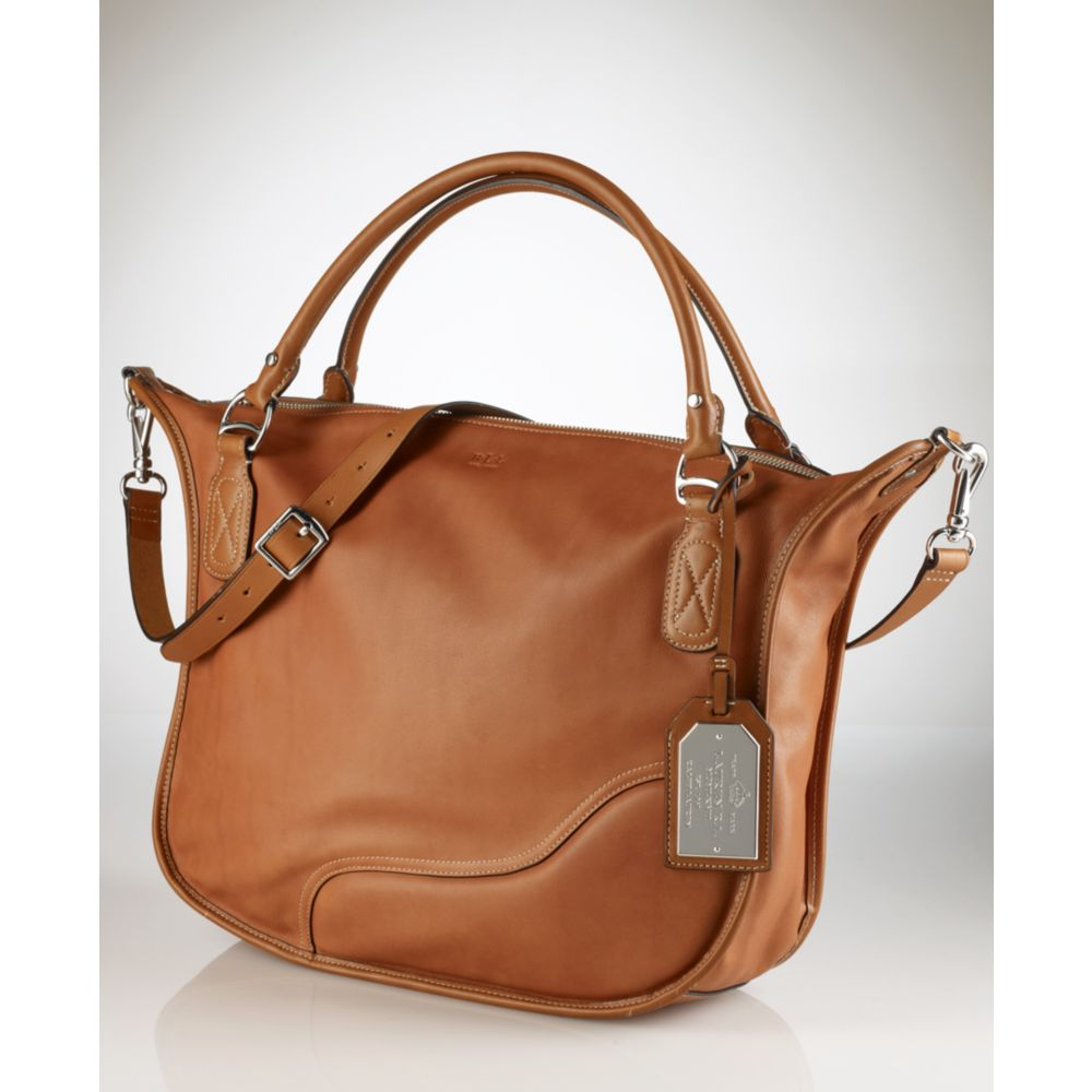 Ralph Lauren Tote Laukku : Lauren by ralph marlborough tote in brown lyst