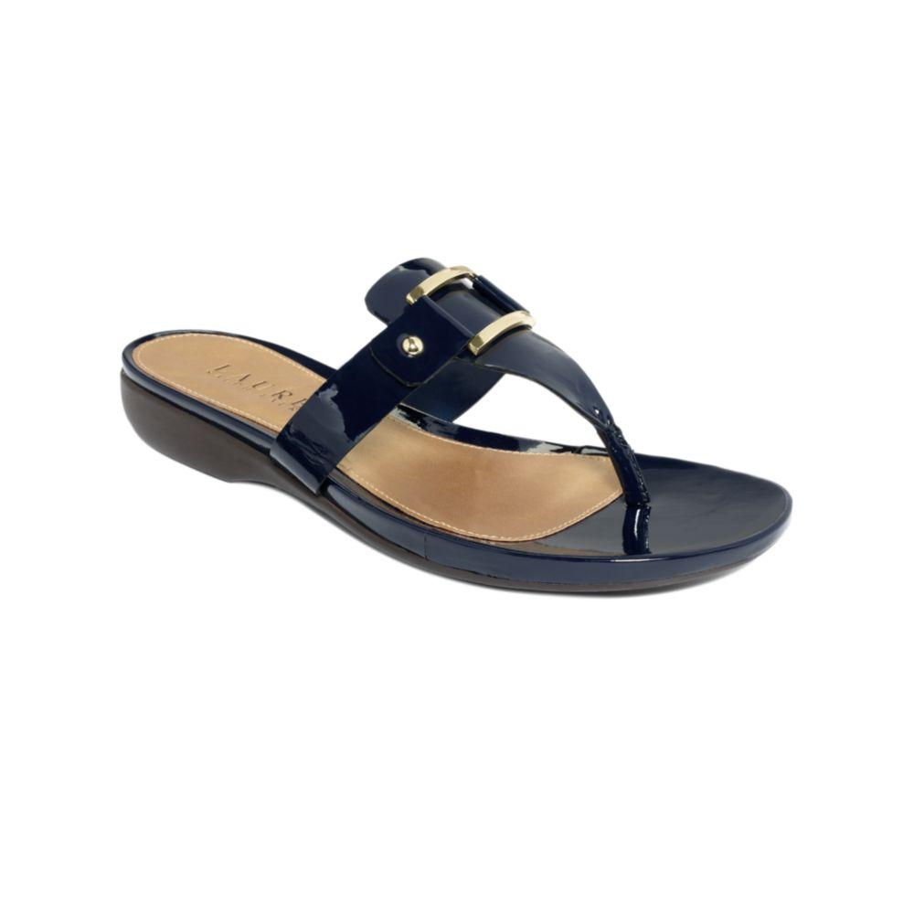 Lauren By Ralph Lauren Kamari Thong Sandals In Blue Lyst