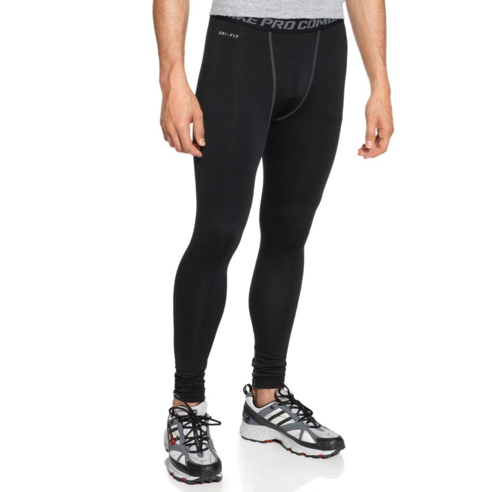 lyst nike pro combat hyperwarm compression pants in black for men. Black Bedroom Furniture Sets. Home Design Ideas