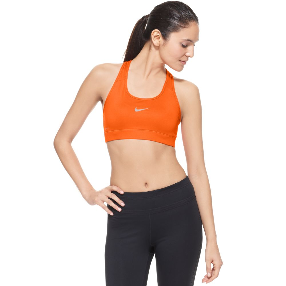 lyst nike pro sports bra in orange. Black Bedroom Furniture Sets. Home Design Ideas
