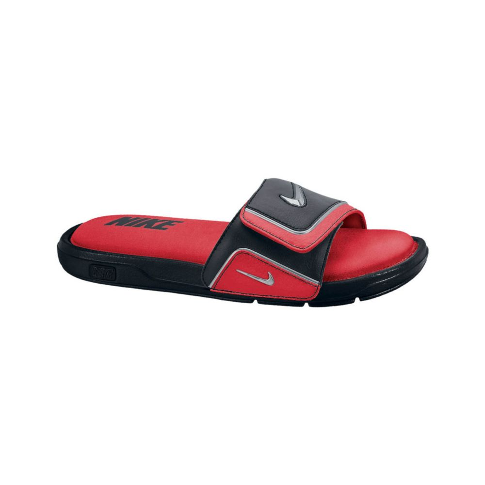 Nike Comfort Slides In Red For Men Red Metallic Grey Lyst