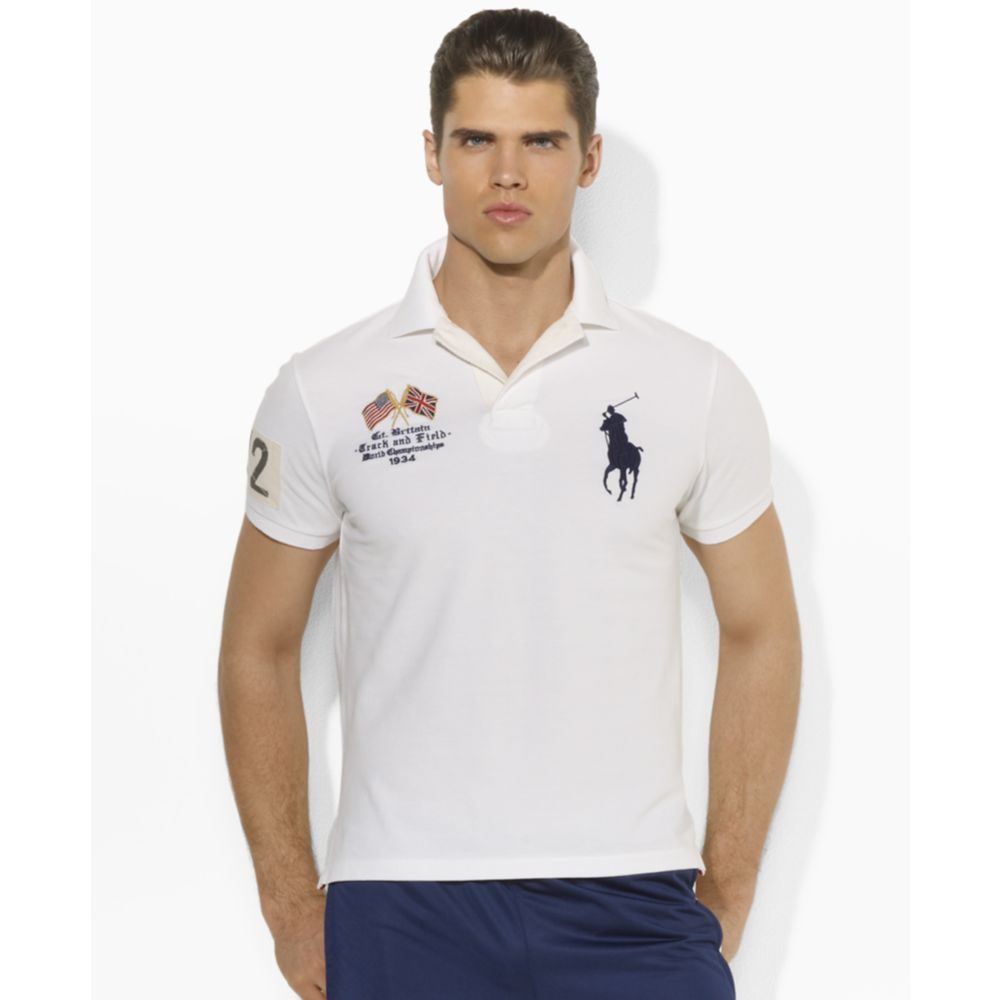 Ralph Lauren Big And Tall Country Mesh Big Pony Polo Shirt