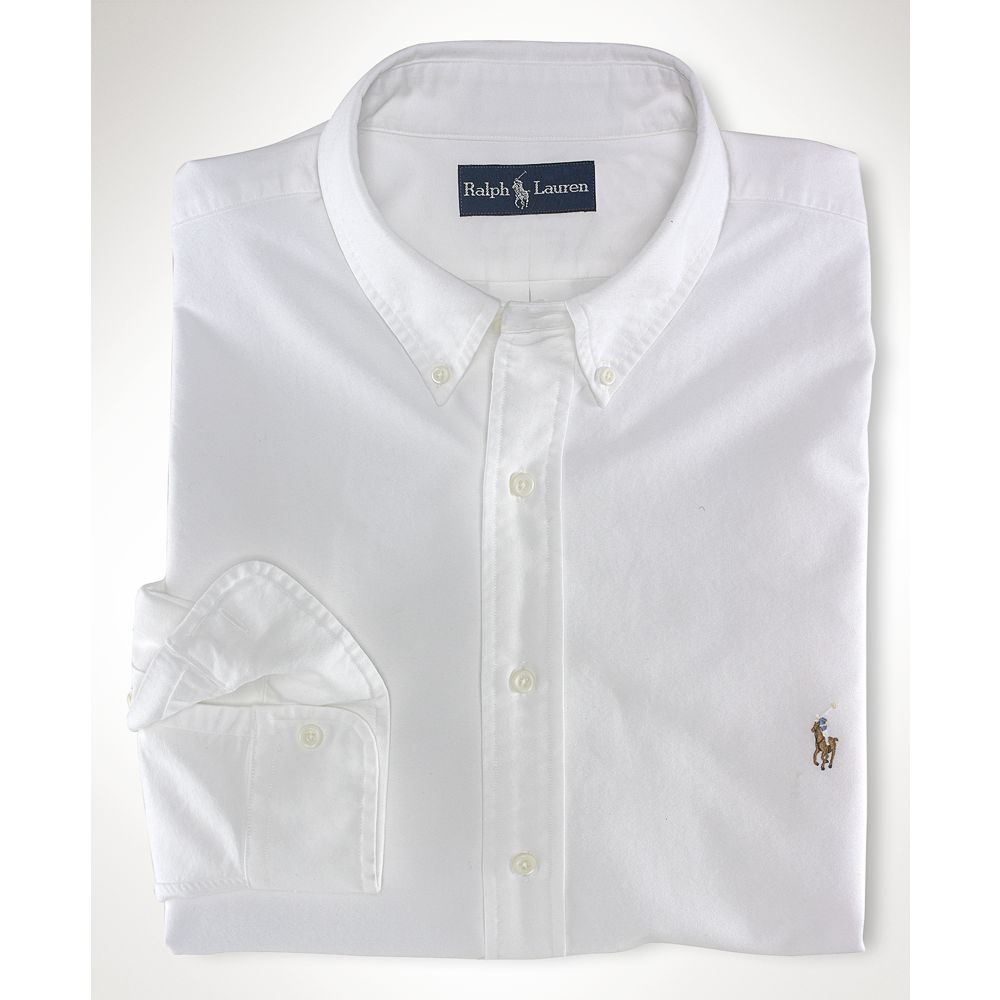 Ralph Lauren Classic Fit Oxford Dress Shirt In White For