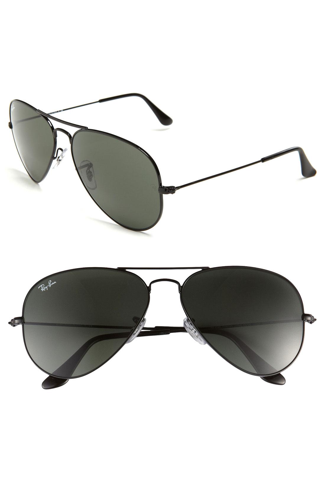 Ray-ban 'Original Aviator' 58Mm Sunglasses in Black for