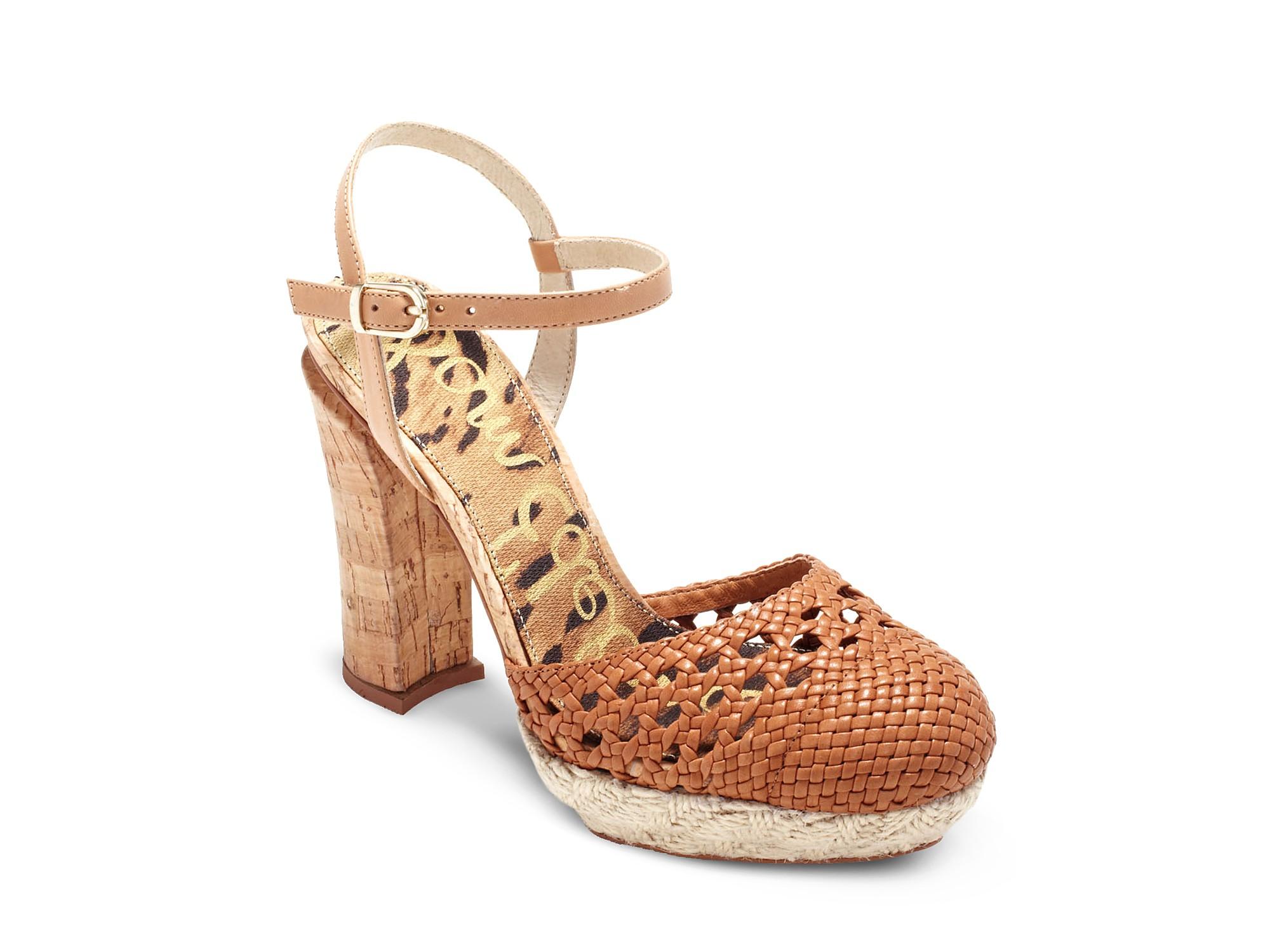 0ba1b1ef5f6e Lyst - Sam Edelman Rella Chunky Heel Closed Toe Sandals in Black