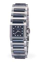 Swarovski Womens Swiss Dresstime Stainless Steel and Jet Hematite Crystal Bracelet - Lyst