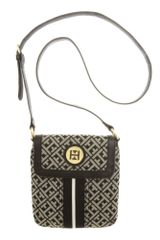 Tommy Hilfiger Signature Jacquard Logo Crossbody in Black (black/cream) - Lyst