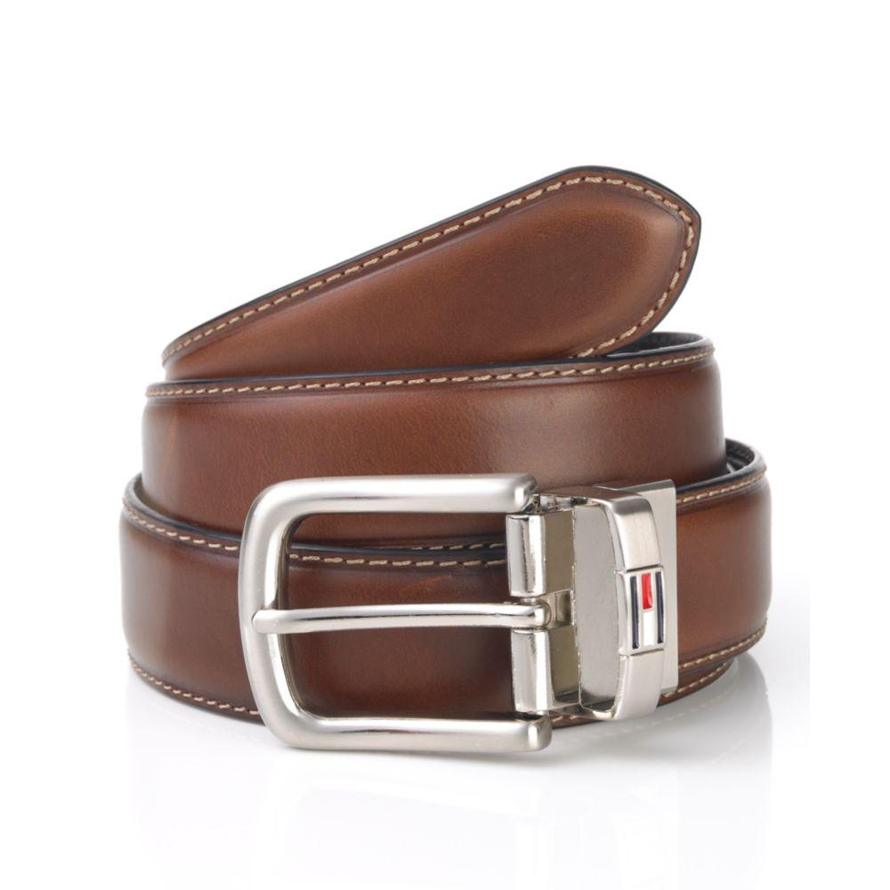 227c709af624 Lyst - Tommy Hilfiger Reversible Leather Dress Belt in Brown for Men