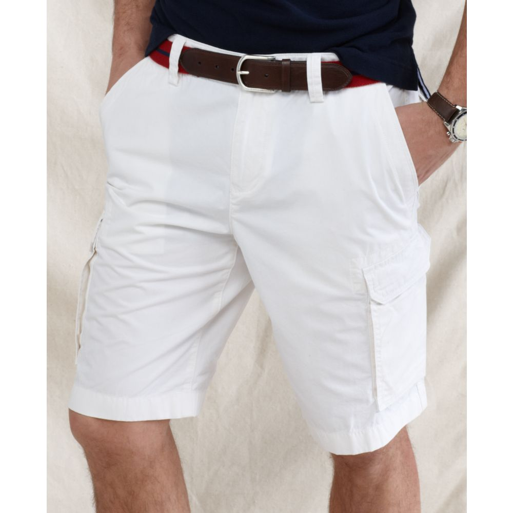Tommy hilfiger Back Country Cargo Shorts in White for Men | Lyst
