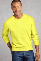 Tommy Hilfiger Taft V Neck in Yellow for Men (coco butter) - Lyst